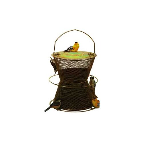 No/No Feeder Original Hourglass Caged Bird Feeder