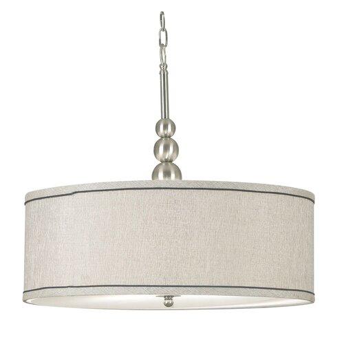 Kenroy Home Lighting Keen Bronze Pendant Light With Drum: Wildon Home ® Adams 3 Light Drum Pendant & Reviews