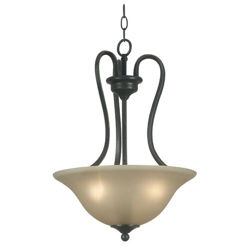 Wildon Home ® Helena 3 Light Inverted Pendant