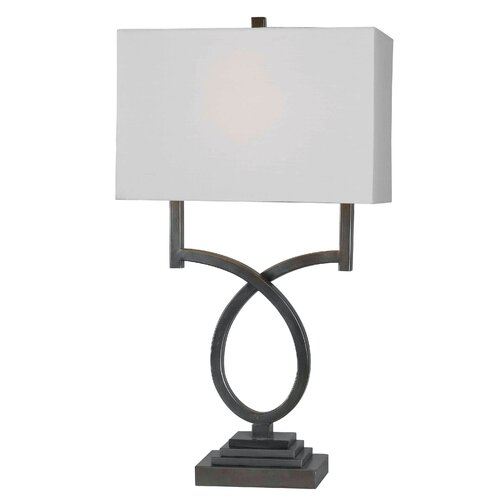 """Wildon Home ® Tau 30"""" H Table Lamp with Rectangle Shade"""