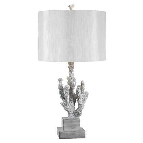 "Wildon Home ® Coral 28"" H Table Lamp with Drum Shade"