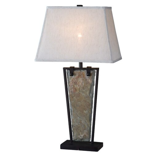 """Wildon Home ® Free Fall 30"""" H Table Lamp with Rectangle Shade"""