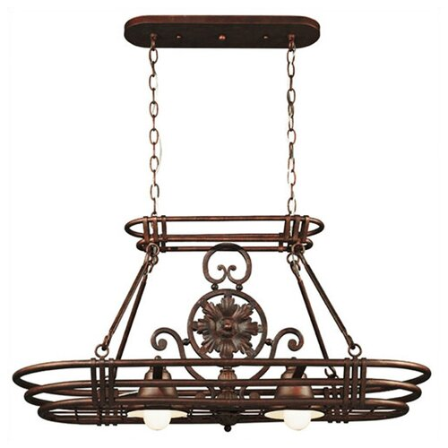 Wildon Home ® Dorada Lighted Hanging Pot Rack