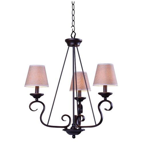 Wildon Home ® Basket 3 Light Chandelier