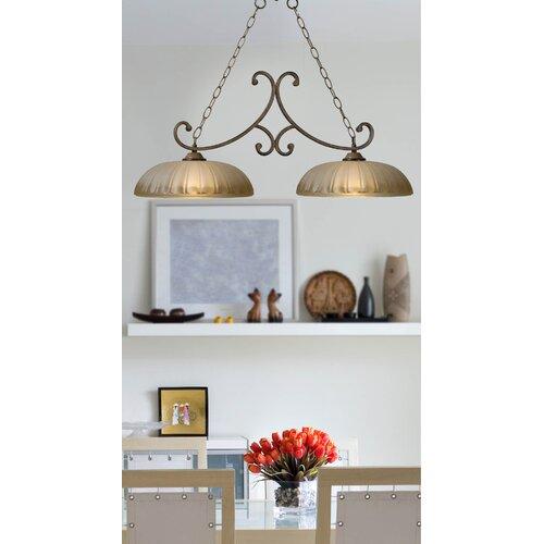 Wildon Home ® Dorset 2 Light Kitchen Island Pendant