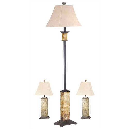 Wildon Home ® Bennington Table lamp and Floor Lamp Set