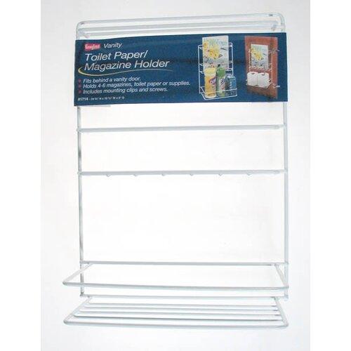 Vanity Magazine and Toilet Paper Holder