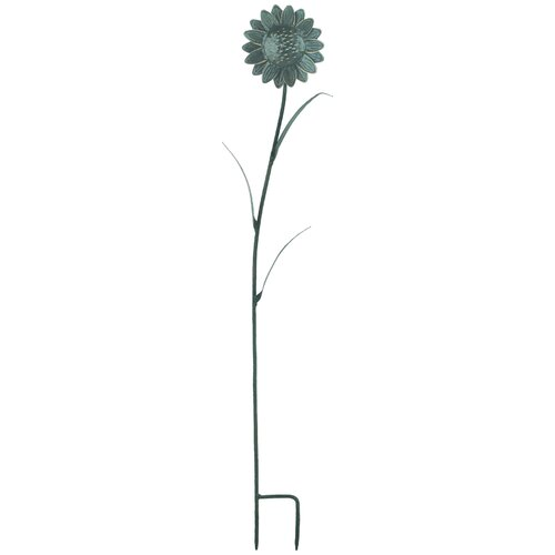 Metal Sunflower Garden Stake