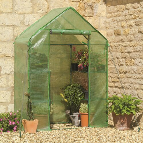 "Riverstone Industries Monticello 7' 6"" H  x 8.0' W x 8.0' D Quick Assembly Polycarbonate 8 mm Greenhouse"