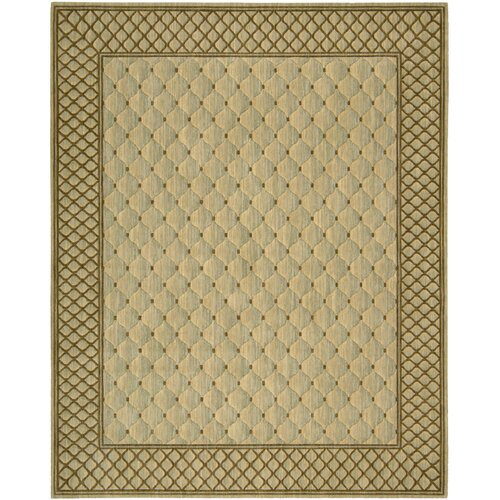 Vallencierre Tan/Light Green Rug
