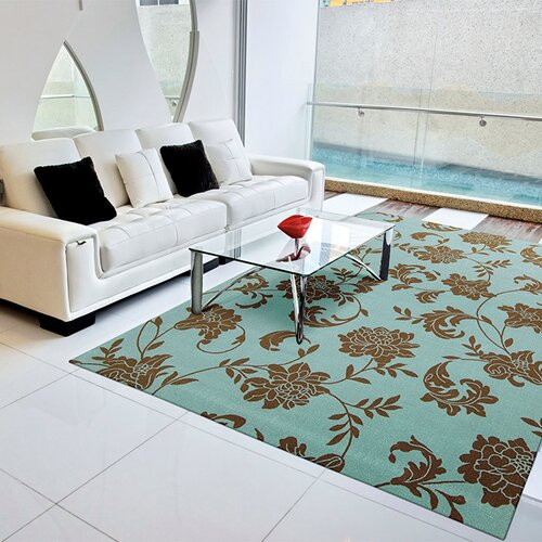 Nourison Home & Garden Light Blue Indoor/Outdoor Rug