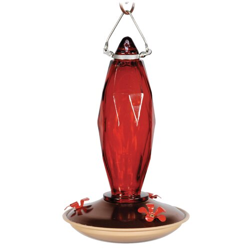 Audubon 10 Ounce Cut Glas Hummingbird Bird Feeder