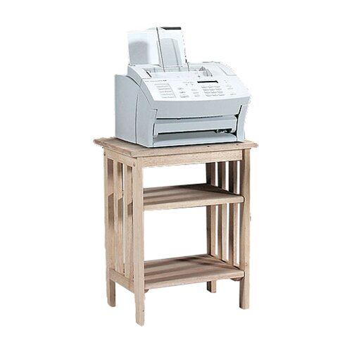 International Concepts Unfinished Wood Mission Printer Stand