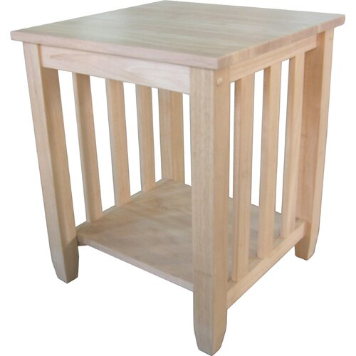 Wood Mission End Table