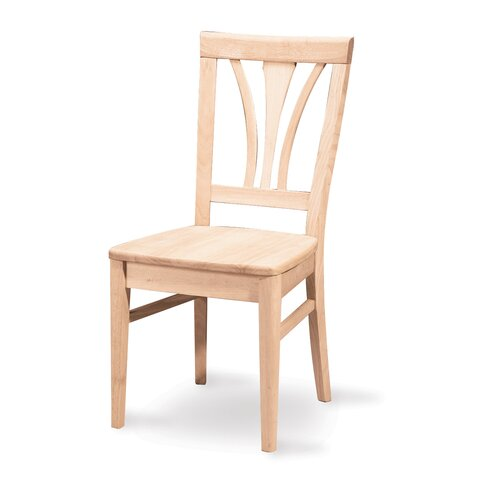 International Concepts Unfinished Wood Fanback Side Chair (Set of 2)