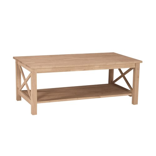 Unfinished Wood Hampton Coffee Table