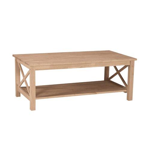 Unfinished Wood Hampton Coffee Table
