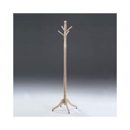 International Concepts Wood Coat Rack with Swivel Top