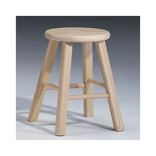 International Concepts Unfinished Wood 18quot Bar Stool  : 1825222BRound2BTop2BStool from wayfair.com size 500 x 500 jpeg 32kB