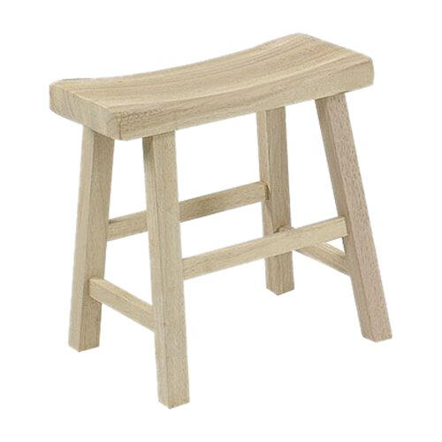 "International Concepts Unfinished Wood 18"" Bar Stool"