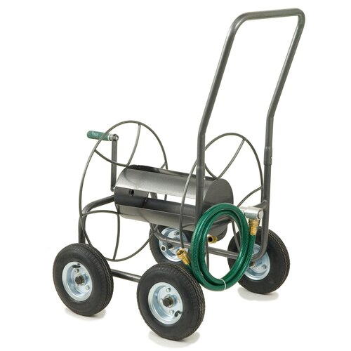 Lewis Lifetime Tools Steel 4 Wheeled Hose Truck