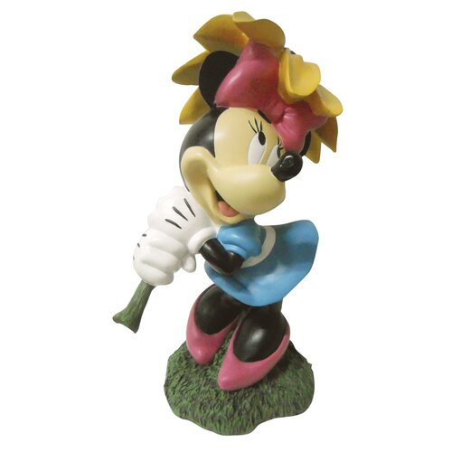 Disney Minnie Mouse with Flower Parasol Statue