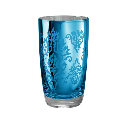 Artland Brocade Highball Glass in Blue