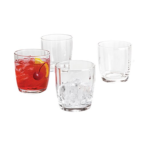 Optic Double Old Fashioned Glass (Set of 4)