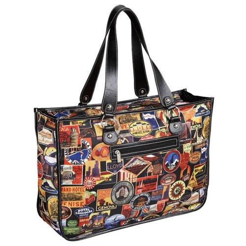 Vintage Hotel Nylon Ripstop Large Tote Bag