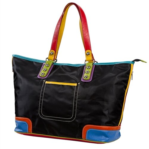 Color Block Large Tote