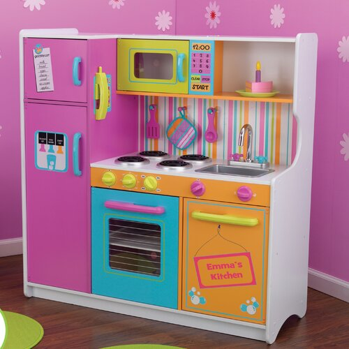 KidKraft Personalized Deluxe Big and Bright Toy Kitchen