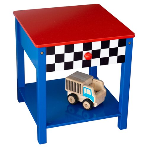 KidKraft Race Car 1 Drawer Nightstand