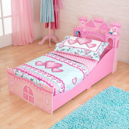 Kidkraft princess castle toddler bed reviews wayfair - Princess bed for toddler girl ...