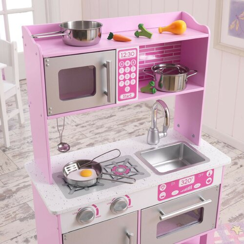 kidkraft toddler kitchen with accessories reviews wayfair