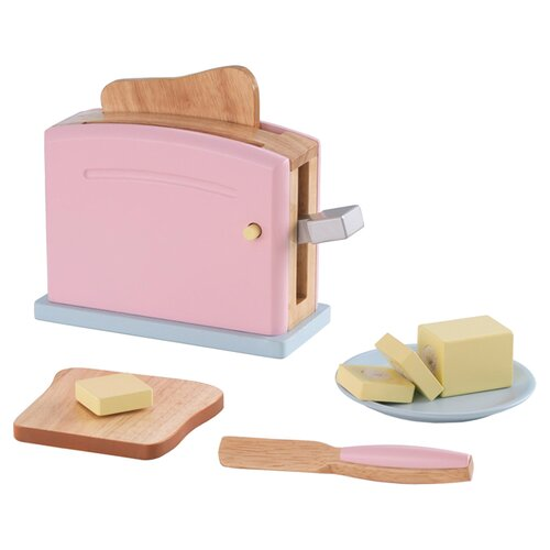 KidKraft 6 Piece Pastel Kitchen Toaster Set
