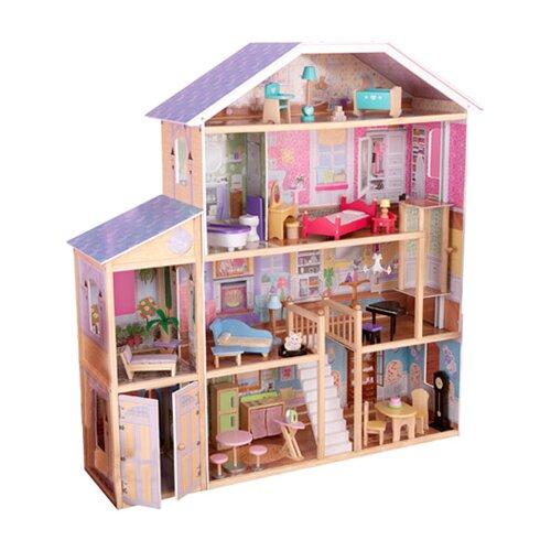 large dollhouse mansion wooden doll house furniture 4. Black Bedroom Furniture Sets. Home Design Ideas
