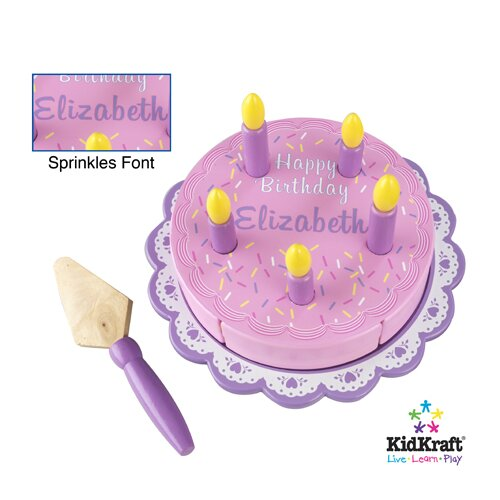 Personalized Birthday Cake Set