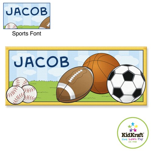 KidKraft Personalized Sports Canvas Art