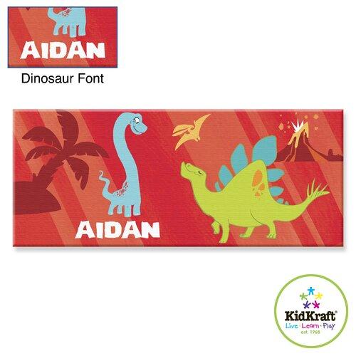 Personalized Dinosaur Canvas Art