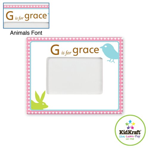 Personalized Girl Animal Frame