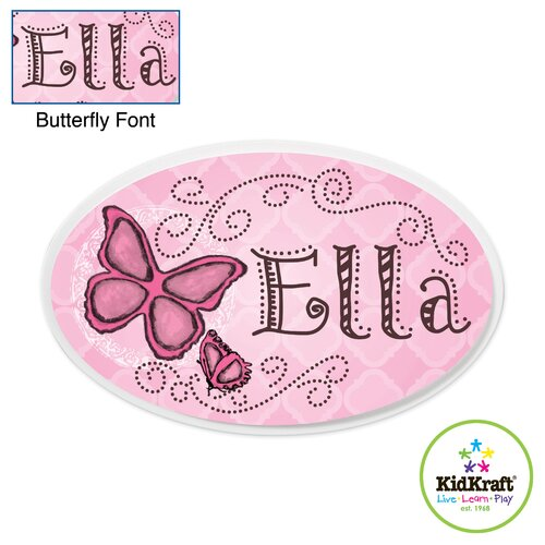 Personalized Butterfly Oval Wall Plaque