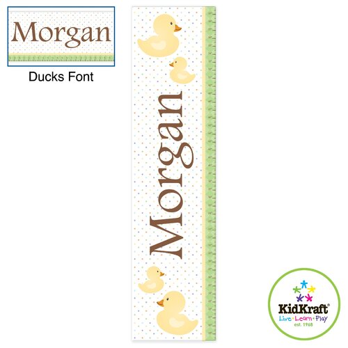 KidKraft Personalized Ducks Growth Chart