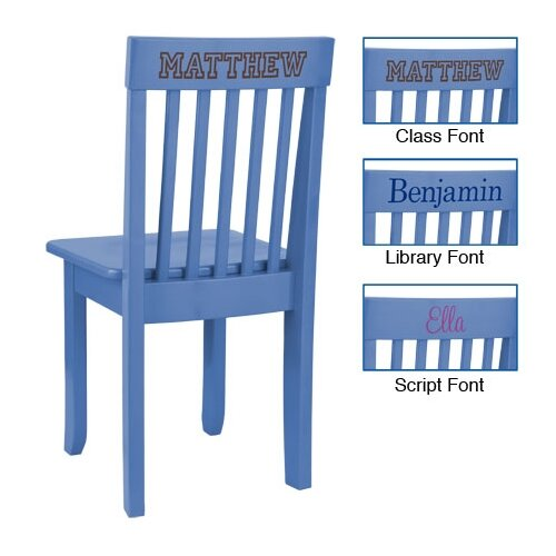 Personalized Avalon Chair in Cornflower