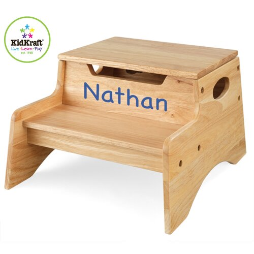 KidKraft Personalized Step N' Store Stool