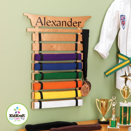 KidKraft Personalized Martial Arts Belt Holder Wall Plaque