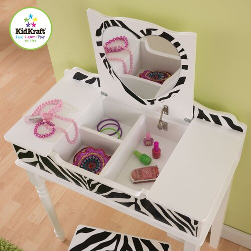 KidKraft Fun and Funky Vanity Set with Mirror