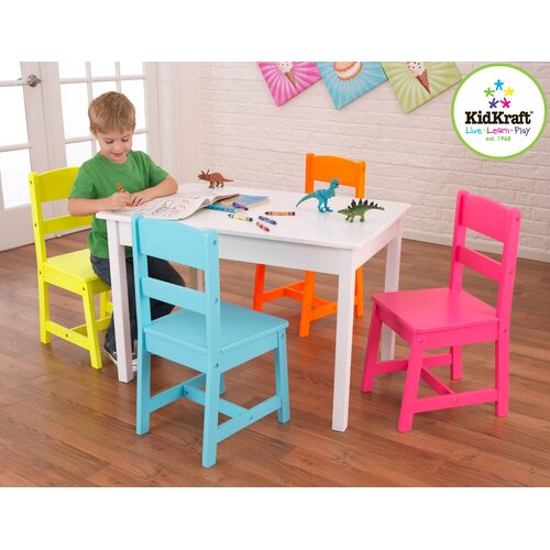 Highlighter Kids' 5 Piece Table and Chair Set