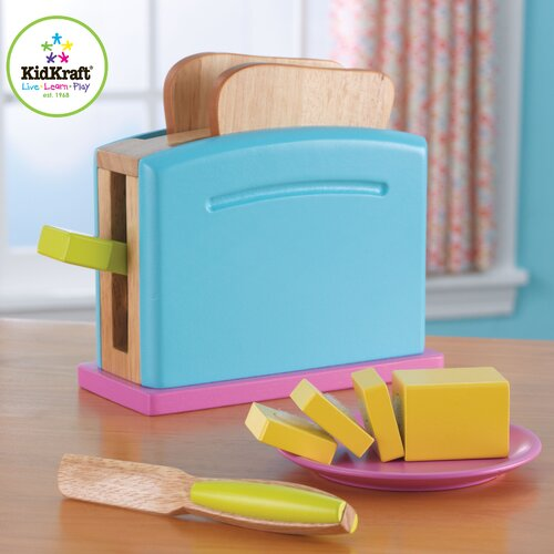 KidKraft 9 Piece Bright Toaster Set