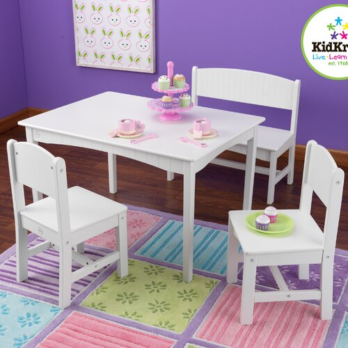 B1022886Nantucket Kids 4 Piece Table and Chair Set