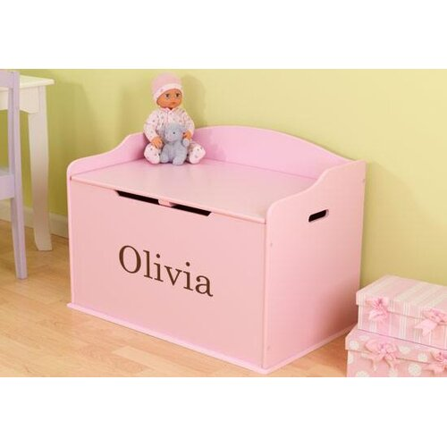 KidKraft Personalized Austin Toy Box in Pink